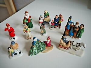 Mixed Lot 10 Department 56 & others Ceramic Christmas Village People Painted