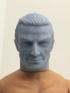 "CUSTOM JAMES BOND SEAN 007 CONNERY RESIN HEAD for 8 "" MEGO FIGURES HEAD ONLY!!!!"