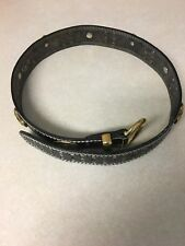 Leather Belt Made in France Croute De Cuir Vachette Size S