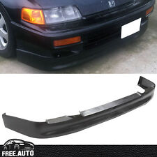 For  90-91 Honda CRX SI ED9 CS Style Front Bumper Lip Spoiler Splitter PU Black