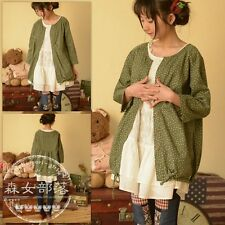Brand New Korean Style Cute Floral Button Cardigan Shirt Blouse Top XS