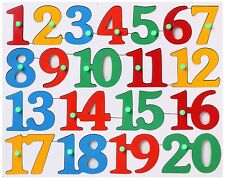 Wooden Number Counting 1 to 20 early learning for 2+ year Child   Free Shipping