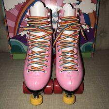 Pink Moxi Rainbow Rider Roller Skates Size 8 Fits Women'S 9/9.5 Guc