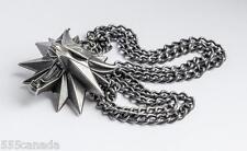 Caja De Regalo De Lujo Collar medallón de brujo Wolf juego de Joyería Colgante