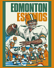 Edmonton Eskimos Vintage 1970's Wall Art Poster - 8x10 Color Photo