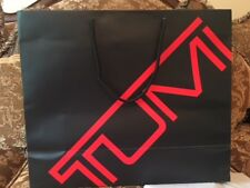 """TUMI New Gift Bag, Paper Shopping Bag Wrapping Package 16""""X13,5""""'X6"""""""" NEW BLACK"""