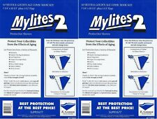 "E.Gerber Mylites2 100 Pack - 2 mil Silver/Gold 7-3/4"" x 10-1/2"" plus 1-1/2"" flap"