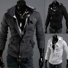 Модные мужские зимние тонкий теплый с капюшоном толстовка пальто, куртка, верхняя одежда, свитер