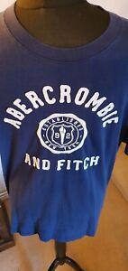 Abercrombie & Fitch,  Size XL Blue Logo, 100% Cotton Tshirt