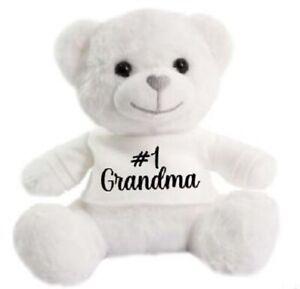 Number 1 Grandma Mother day super soft cuddly Christmas gift Birthday Teddy Bear