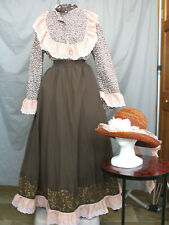Civil War Dress Women's Prairie Western Victorian Costume Edwardian