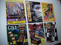 Lot Of (6) ORIGINAL PINBALL MACHINE Sales FLYERS CSI Congo Class Of 1812 Set #34