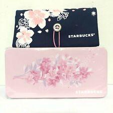 2Pcs Starbucks Sakura Foldable Bag Blue+Tin Box Sakura in Thailand Only