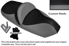 Gris Y Negro Custom encaja Piaggio X9 125 250 500 de doble piel cubierta de asiento