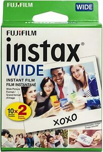 Fujifilm Instax Wide Instant Film Pack (20 Exposures) For 200, 210, 300 Cameras