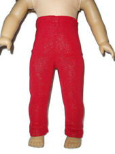 """Sparkly Red Leggings fits American Girl dolls 18"""" doll clothes"""
