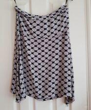 ted baker silk skirt asymmetric hem 10