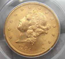 1904 $20 Liberty Head Gold Double Eagle PCGS MS 62 09045 . 62 / 7246577