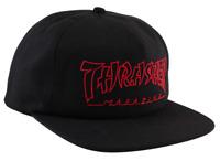 THRASHER Skateboard Magazine Black / Red China Banks Logo Snapback Hat