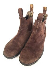 Blundstone Brown Suede Leather Chelsea Boots, UK 7