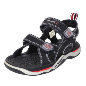 Timberland Sandals 2 Strap Toddler's Shoes Walking Black White Leather 30868 New
