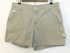 Calvin Klein Juniors Khaki High Waist Carpenter Shorts Utility Strap Size 11