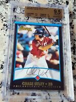 CHASE UTLEY 2001 Bowman #1 Draft Pick Rookie Card RC BGS 9.5 GEM MINT Phillies $
