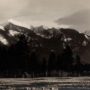 The Mission Range Montana 1920 Herman Schnitzmeyer Vintage Panorama Photograph