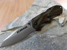 Schrade Mini M.A.G.I.C. A/O Folding Knife AUS-8 Drop Pt EDC Bronze Pocket 7SMBR