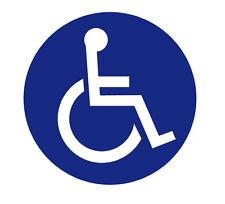 Aufkleber Rollstuhl Behindert Auto Rollstuhlfahrer 10cm Durchmesser