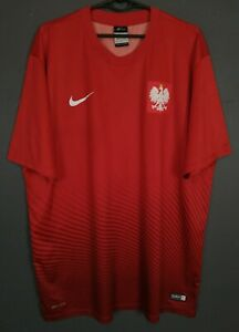 NIKE MEN'S POLAND NATIONAL 2016/2017 POLSKA SOCCER FOOTBALL SHIRT JERSEY SIZE XL