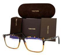 Tom Ford FT5584-B 055 Tortoise Light Brown / Blue Block 56mm Eyeglasses TF5584-B