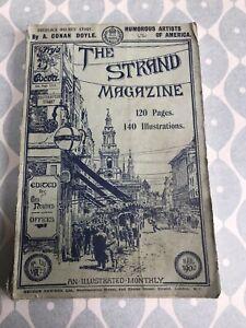 The Strand Magazine March 1902 A. Conan Doyle Sherlock Holmes Vintage Adverts