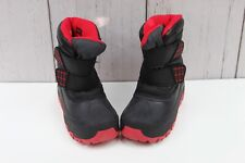 Cat & Jack Double Strap Thermolite Winter Boots Black Red Toddler Boys Size 13