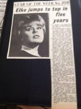 65-8 Ephemera 1965 Article Actress Elke Sommer Film Star