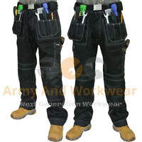 2 x Work Trouser Workwear Multi Pocket Trade Extreme Pro Pants Tripe Stitched