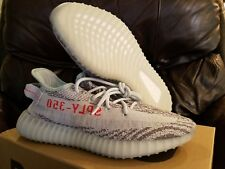 DS Adidas Yeezy Boost 350 V2 Blue Tint Grey Red SPLY 100% AUTHENTIC Stone Island