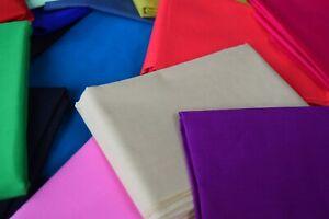 """AEL 100% Cotton Fabric Plain Solid Colours per M approx Width 45"""" Inc VAT"""