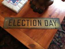3 political collectible items - democratic napkins donkey bank brass election