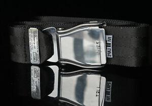 Am Safe Flugzeuggürtel by FlapsFive -Black in Gebürstet  Glänzend Standard