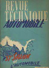 (C5)REVUE TECHNIQUE AUTOMOBILE Spécial SALON 1950