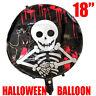 "18"" Halloween Ballons Spooky Decoration Black Orange Cobweb Skull Pumpkin Pirate"