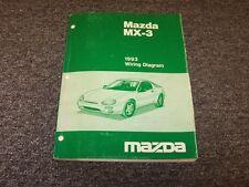 1993 Mazda MX3 Hatchback Original Electrical Wiring Diagram Manual GS 1.6L 1.8L