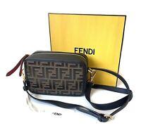 Fendi Mini Camera Bag With Iconic FF Pattern NWT