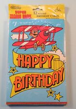 1989 Nintendo 12 Birthday Cards & Envelopes Super Mario Bros Sealed NES era