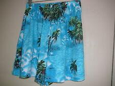 Women's Shorts Hawaiian Print Simply Basic Sz S Blue