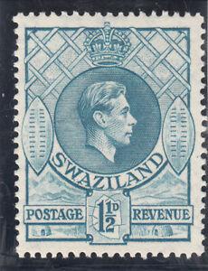 Swaziland 1938.  1 1/2d George VI Light blue.  MLH