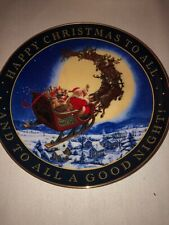 """FRANKLIN MINT """"To All A Good Night"""" Collectible Plate"""