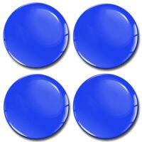 4x 65mm Blau Glanz 3D Silikon Aufkleber für Nabendeckel Felgendeckel Nabenkappen