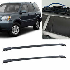 Black Aluminum Roof Rack Cross Bars Carrier For 03-08 Honda Pilot Oe Style